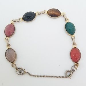 Vintage Egyptian Scarab Bracelet